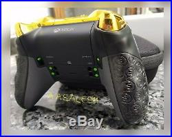 XBOX ONE ELITE WIRELESS CONTROLLER CUSTOM GEARS OF WAR WITH SCUF WithYELLOWLED