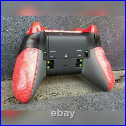 XBOX ONE ELITE WIRELESS CONTROLLER CUSTOM SCARE PARTY WithRED SCUF ORANGE LED