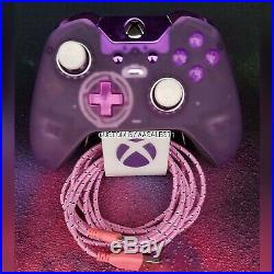 XBOX ONE ELITE WIRELESS CONTROLLER CUSTOM SOFT TOUCH MATTE CLEAR WithPINK/PURLED