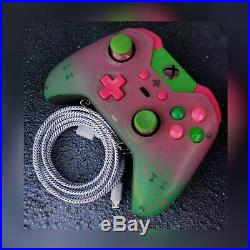 XBOX ONE ELITE WIRELESS CONTROLLER CUSTOM WATERMELON /GREEN SCUF WithPINK/PUR LED