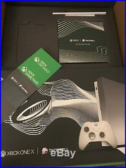 XBOX ONE X PLATINUM TACO BELL 1TB WithELITE CONTROLLER + 3 MONTHS LIVE & GAME PASS