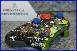 XBOX One 1 Villians Custom ELITE Controller, Green kit, Blue Thumbs, Red D1698