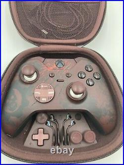 Xbox Elite Gears of War 4 Limited Edition Controller READ DESCRIPTION! DAMAGED