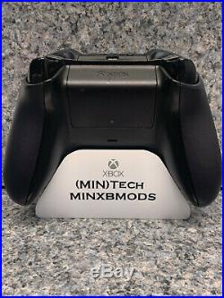 Xbox One 1 S 1708 Controller CUSTOM BLACKOUT, Alum Dpad, Elite ABXY Red LED