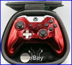 Xbox One Elite 7 Watts Rapid Fire Mod Controller withChrome Red Face Plate