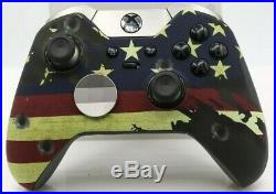 Xbox One Elite 7 Watts Rapid Fire Mod Controller withSoft Touch American Flag Face