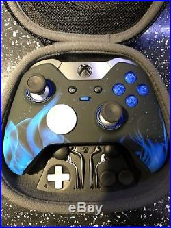 Xbox One Elite Controller Blue Flame CUSTOM LIMITED EDITION