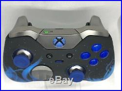Xbox One Elite Controller Blue Flame CUSTOM LIMITED EDITION Blue LED