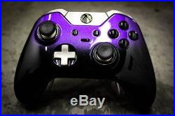 Xbox One Elite Controller Custom Painted Midnite Black with Grape Fade