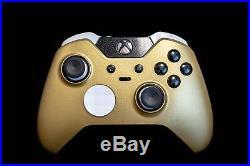 Xbox One Elite Controller Original Custom Design Gold White
