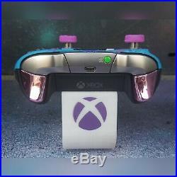 Xbox One Elite Wireless Controller Custom Blue&purple Ombre & Splatter Blueled