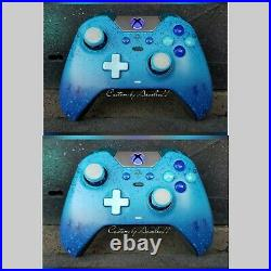 Xbox One Elite Wireless Controller Custom Blueberry Blue Led
