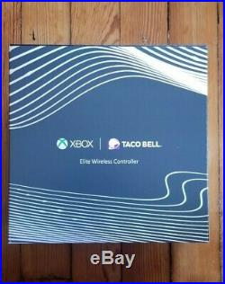 Xbox One Elite Wireless Controller TACO BELL White Special Edition RARE NIB