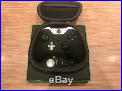 Xbox One S Elite Wireless Controller in Black with accessories case and box A++