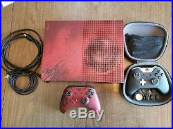 Xbox One S Gears of War 4 Limited 2TB Crimson Red Console with Elite controller