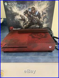 Xbox One S Gears of War 4 Limited Edition 2TB Crimson Red + Elite Controller