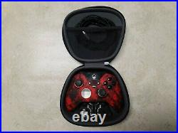 Xbox One Scuf Elite Red and Black Controller with case and parts