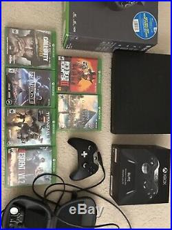 Xbox One X + 6 Games And Elite Controller