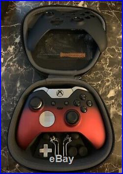 Xbox One X Elite Wireless Controller with Custom Faceplate (Red & Black)
