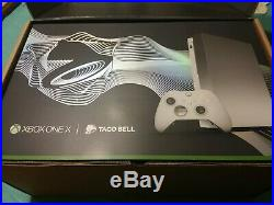 Xbox One X Platinum Limited Taco Bell Edition with Elite Wireless Controller 1TB