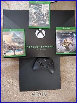 Xbox One X Project Scorpio Edition + elite controller + 3games