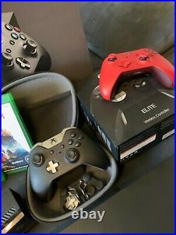 Xbox one X Konsole 4K UHD + spiele + elite controller + kinect guter zustand